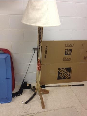 Hockey Stick Lamp